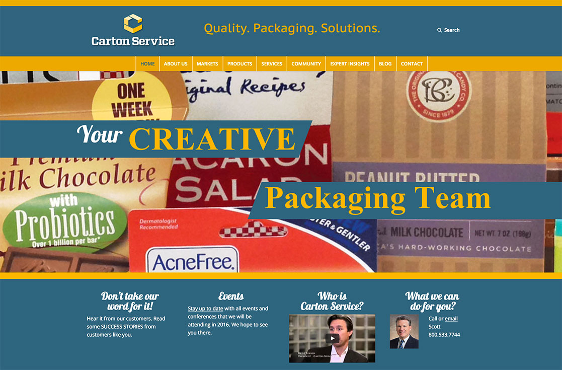 Carton Services website